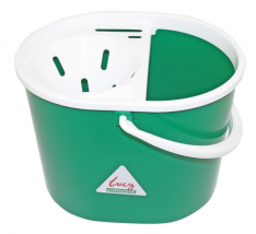 SYR Lucy 10 Litre Oval Mop Bucket with Wringer, GREEN