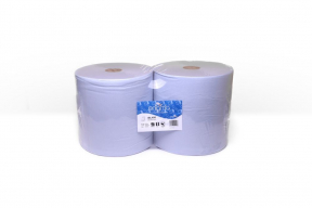 IBL400 Blue Industrial Wiping Rolls, 2 per pack, 400m per roll, 2 ply, 1000 sheets
