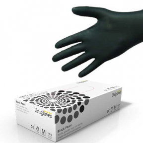 Disposable Nitrile Powder Free Gloves, Black Pearl Colour, Medical Examination Gloves, EXTRA LARGE