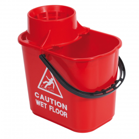 RS 102946 Professional Mop Bucket and Wringer, 15 Litre, RED