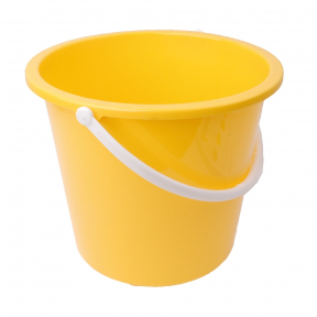 RS 102834 Homeware Round Bucket, 10 Litre, YELLOW