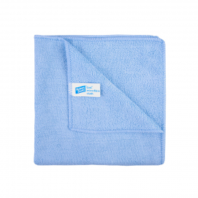 10x Microfibre cleaning wiping cloths, BLUE