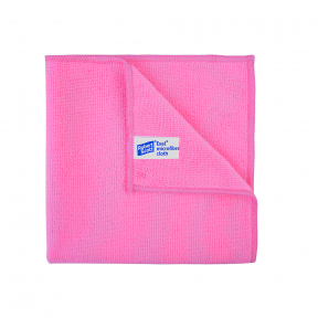 10x Microfibre cleaning wiping cloths, RED