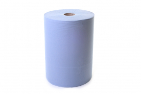 Blue Industrial Wiping Roll, 1000 sheets, 3 ply