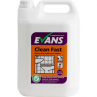 Evans A010 Clean Fast Heavy Duty Acidic Bacterial Washroom Cleaner 5 Litre