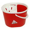 SYR Lucy 10 Litre Oval Mop Bucket with Wringer, RED