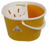 SYR Lucy 10 Litre Oval Mop Bucket with Wringer, YELLOW