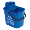 RS 102946 Professional Mop Bucket and Wringer, 15 Litre, BLUE