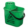 RS 102946 Professional Mop Bucket and Wringer, 15 Litre, Green