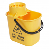 RS 102946 Professional Mop Bucket and Wringer, 15 Litre, YELLOW