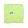 10x Microfibre cleaning wiping cloths, YELLOW
